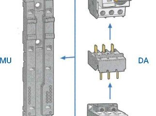 Combination of Manual motor starters and contactors